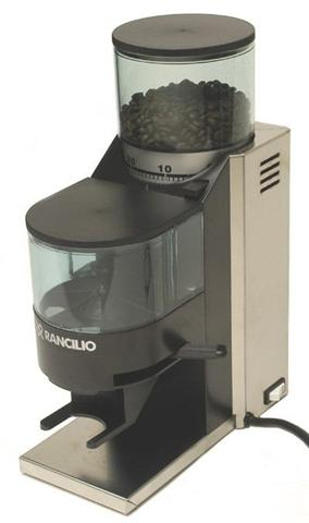 Rancilio Rocky.  Better for frequent use because it grinds more at a time.